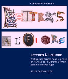 «Lettres à l'œuvre»: les jeux de la poésie dans un colloque international